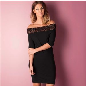 Noisy May Sz Med Black Dress Lace Detail